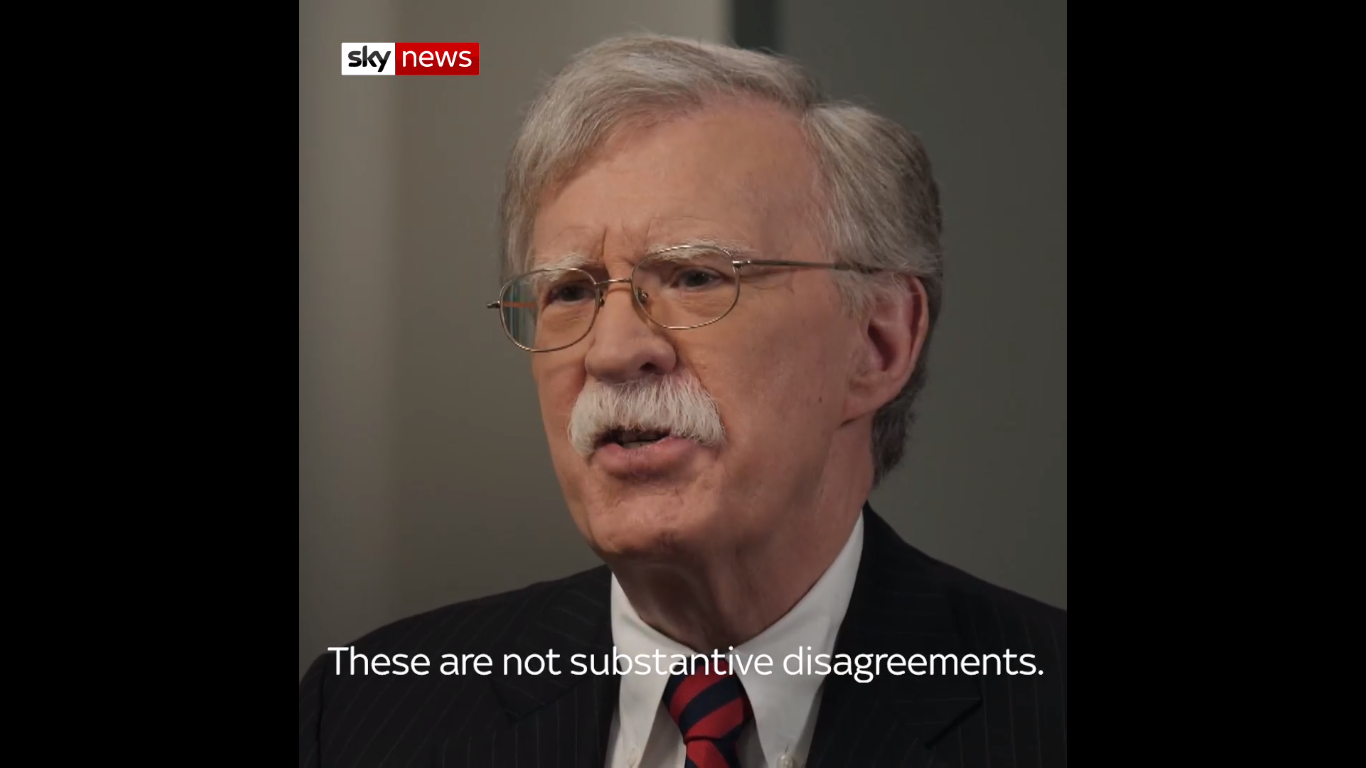 John Bolton: Trump 'Has Problems with Women Leaders' and 'Likes to Talk'