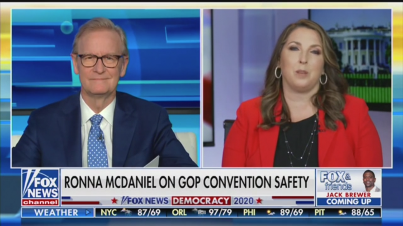 Watch: Fox's Steve Doocy Tries to Convince RNC Chair to Get Trump to Wear a Mask