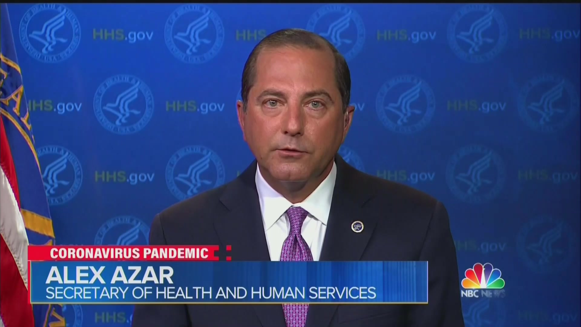 Alex Azar Struggles to Explain Discrepancy Between Trump and Health Officials on Mask Wearing