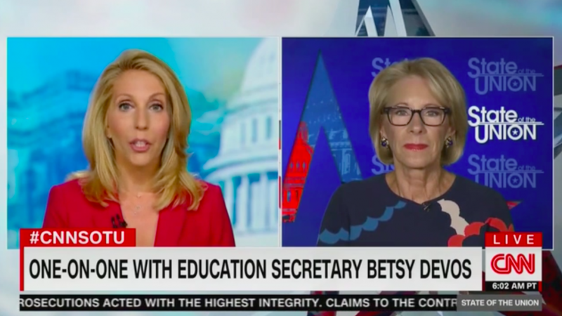 Betsy DeVos Can't Reassure Teachers and Students Won't Get Sick After Reopening Schools