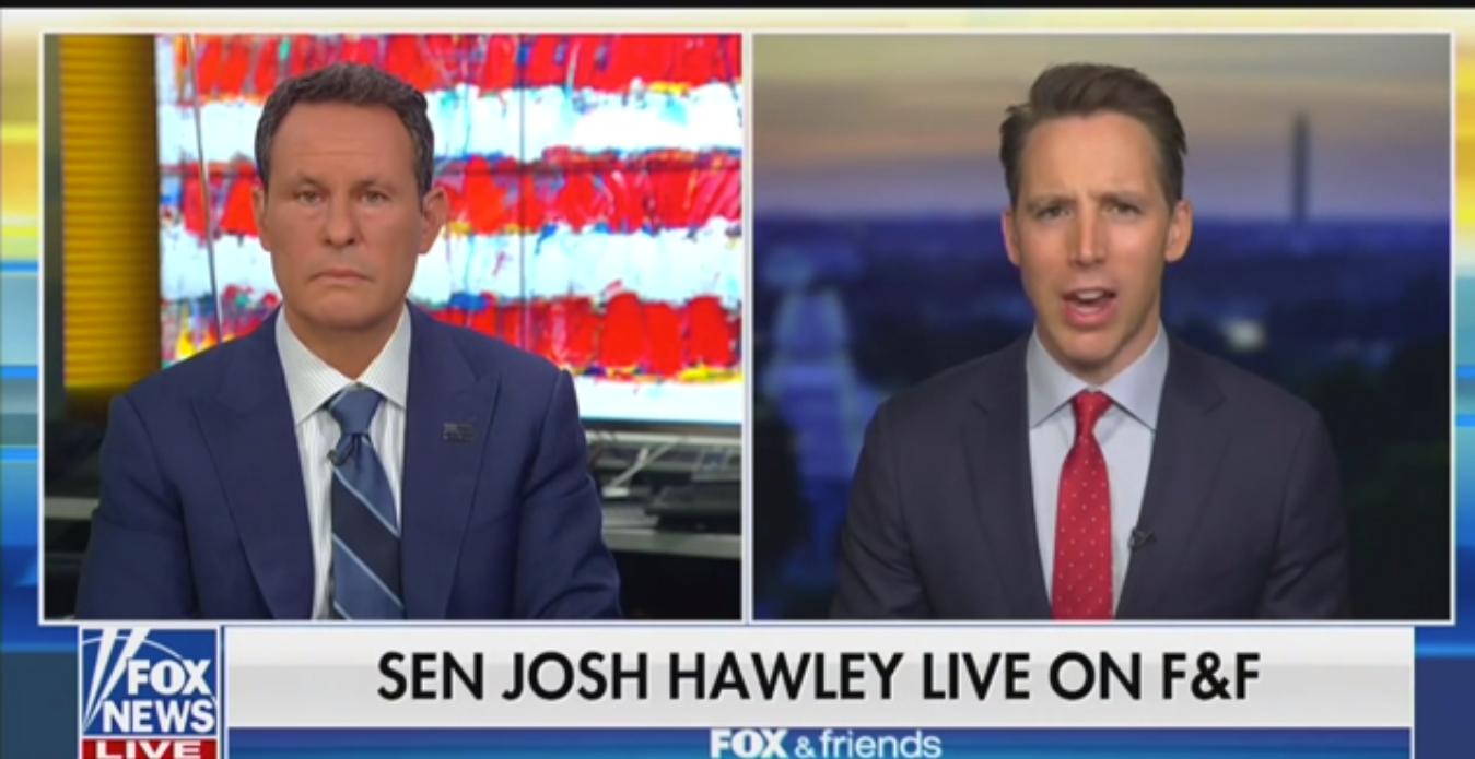 GOP Senator Josh Hawley Blasts 'Marxist' BLM: 'In the Principle, Of Course Black Lives Matter'