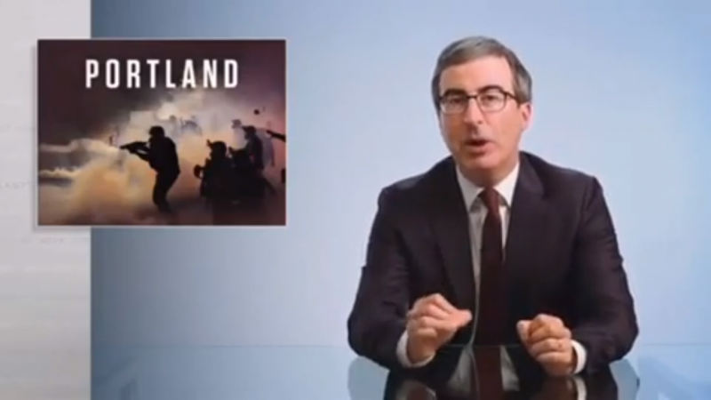 John Oliver Slams Sean Hannity's Lies About Portland Protests