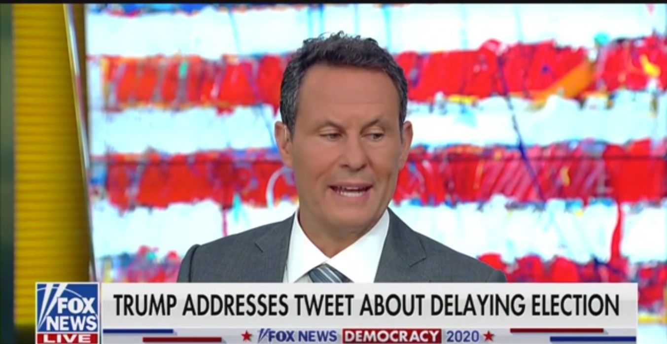 Fox's Brian Kilmeade: Maybe Trump's Election Delay Idea 'Sobered People Up' to Mail-In Ballot Fraud