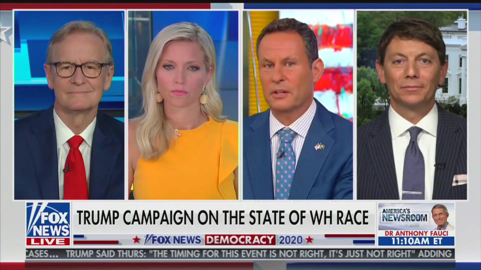 Fox & Friends' Brian Kilmeade Rebukes Trump Spox: 'Don't Call the Fox News Pollsters Fake'