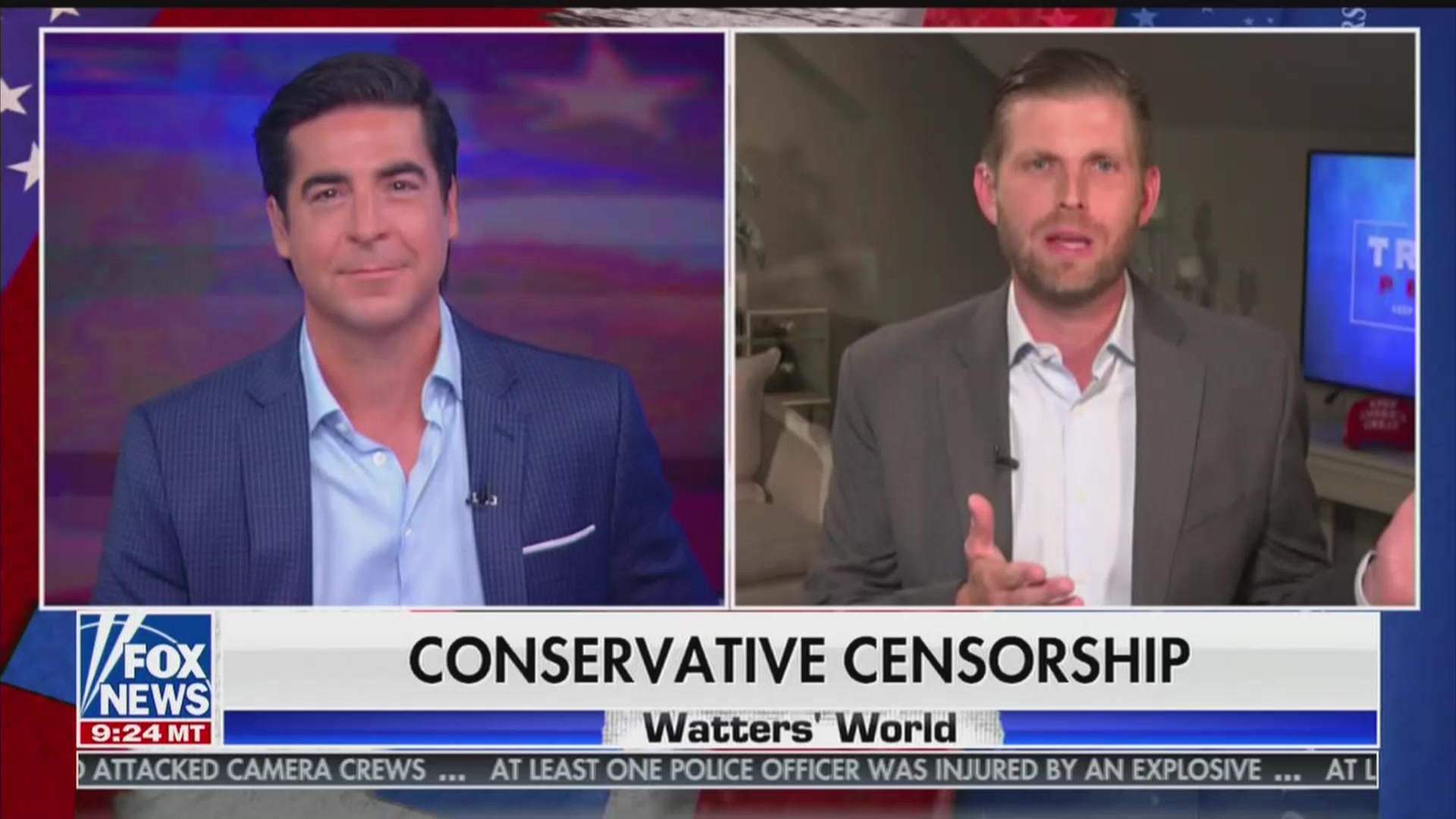 Jesse Watters and Eric Trump Whine About Twitter Banning QAnon Accounts, Which Have 'Uncovered a Lot of Great Stuff'