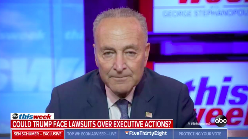 Schumer Says Coronavirus Executive Actions Are 'Just What Trump Does: A Big Show But It Doesn't Do Anything'