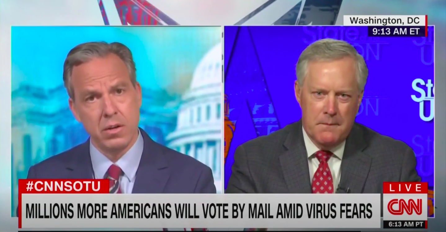 Mark Meadows Claims 'There's No Evidence That There's Not' Widespread Voter Fraud