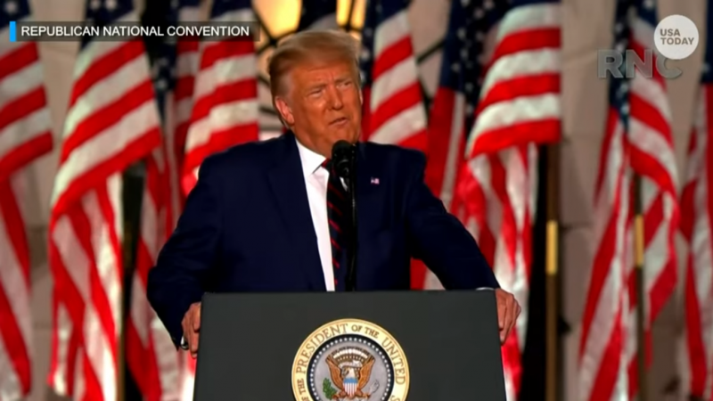 Trump Warns Biden Will 'Demolish the American Dream' in Speech Riddled with Falsehoods