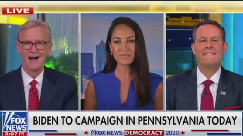 Fox's Steve Doocy Claims Biden Had to 'Get Out of the Basement' Because Trump Is Catching Up in Swing States
