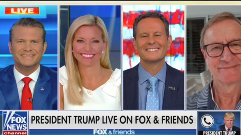 Trump Says Steve Doocy's Newly Married Sister 'Starts Off with Excellent Genes'