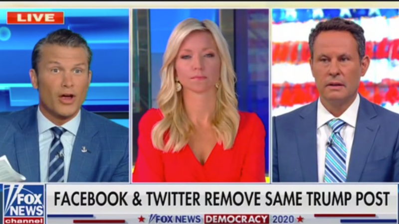 'Fox & Friends' Slam Facebook and Twitter for Removing Video of Trump's False Coronavirus Claim