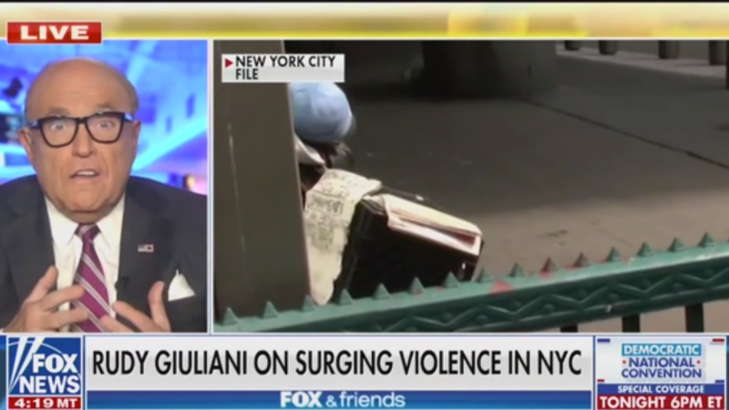 Rudy Giuliani Claims He 'Got Rid of Homelessness' in New York But It Came Back Under Mike Bloomberg