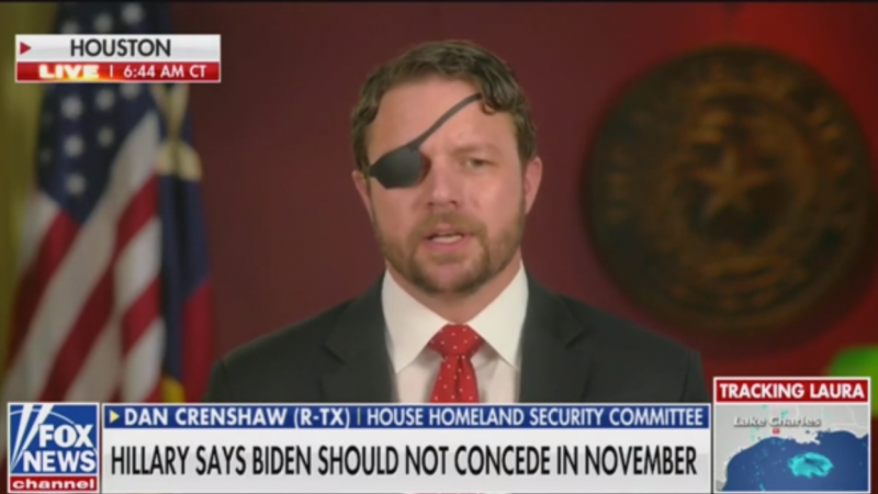 GOP Rep. Dan Crenshaw: It's 'Eerie' That Hillary Clinton Advised Biden Not to Concede in a Close Race