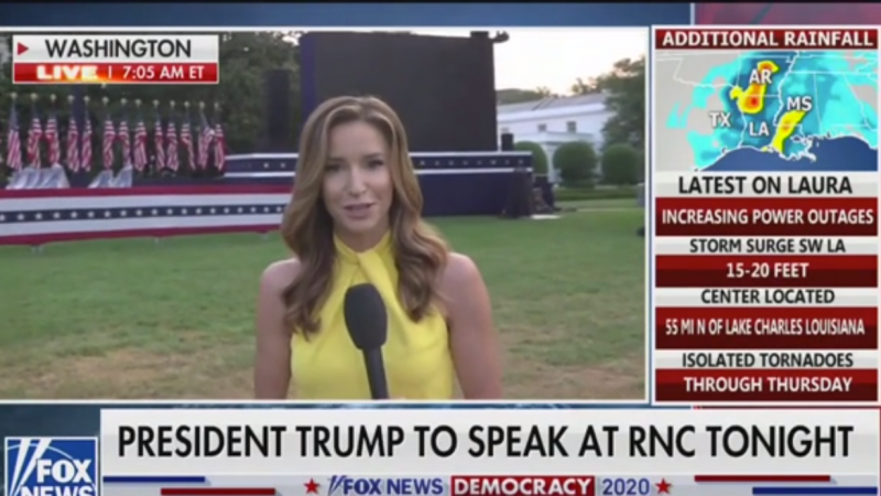 Fox's Kristin Fisher: Trump Campaign Will Say Coronavirus Left Them 'Little Choice' But to Violate the Hatch Act