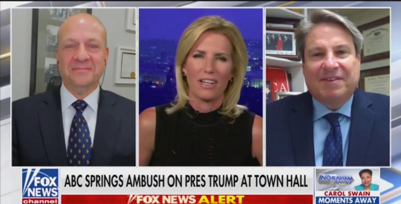 Fox's Laura Ingraham Accuses ABC News of Ambushing Trump with Voter Questions