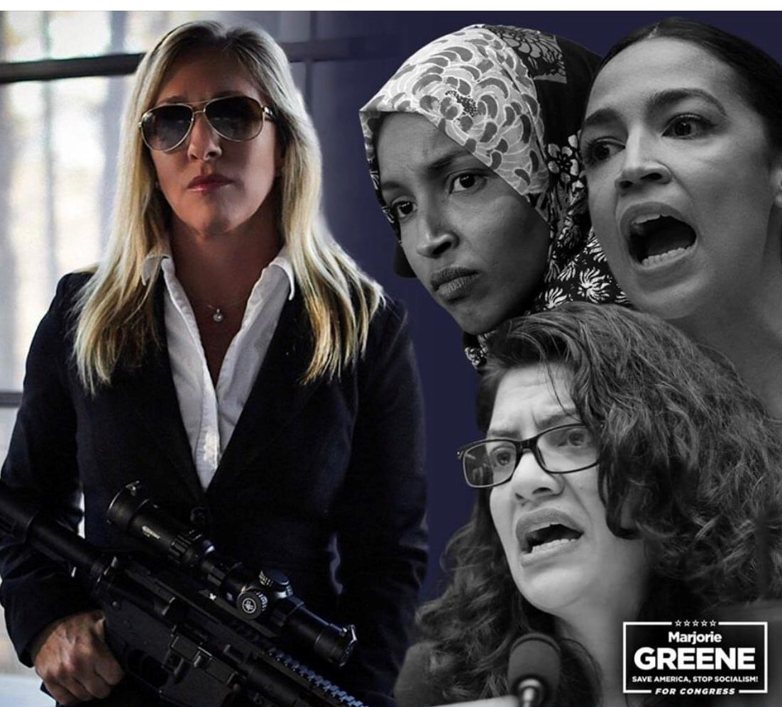 GOP Congressional Candidate Posts Picture of Herself Holding a Gun Next to Democratic Squad
