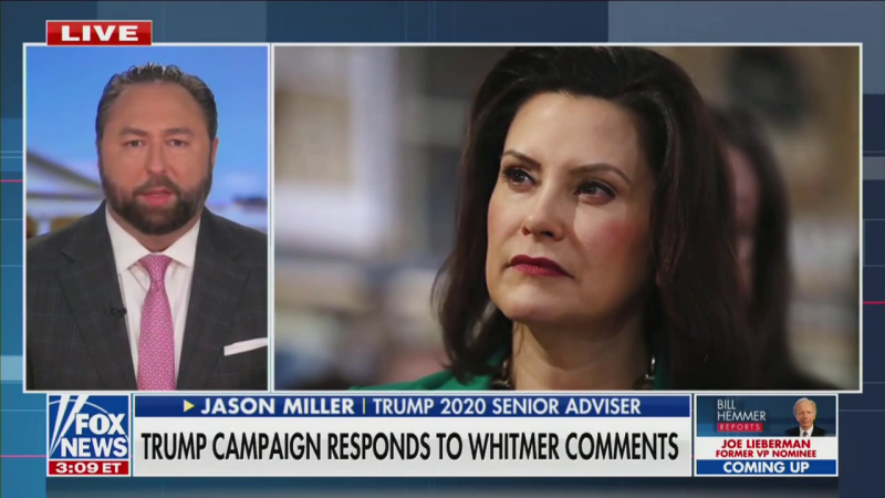 Jason Miller Attacks Michigan Governor, Who Is Target of Kidnapping Plot: 'Such Hatred In Her Heart'