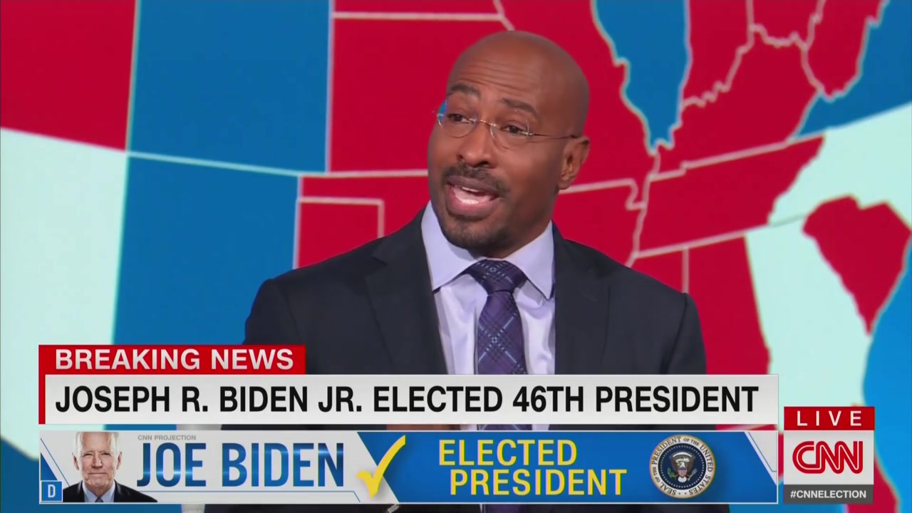 CNN's Van Jones After Biden Declared President-Elect: 'It's Easier to Be a Dad'