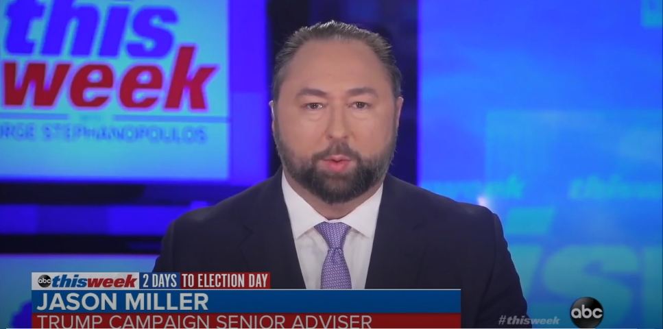 Jason Miller Falsely Claims Counting Votes After Election Night Means Democrats Are Trying to 'Steal' Election
