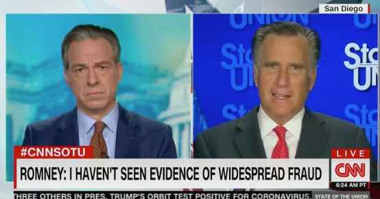 Romney: Trump's Election Attacks Are Baseless Because He Has a 'Relaxed Relationship with the Truth'