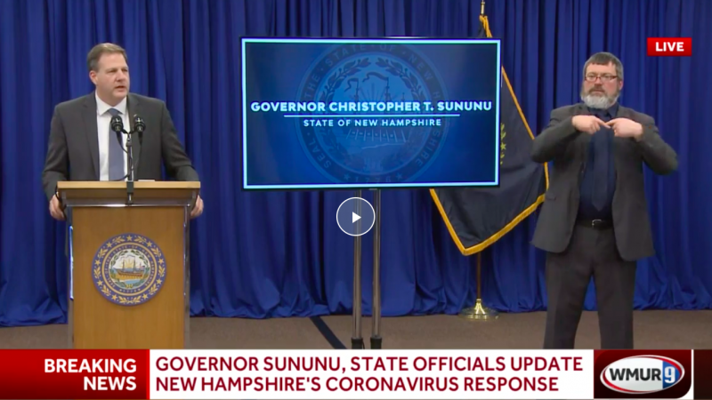 GOP Governor to Anti-Mask Crowd After NH House Speaker Dies of Coronavirus: 'Don't Act Like a Bunch of Children'