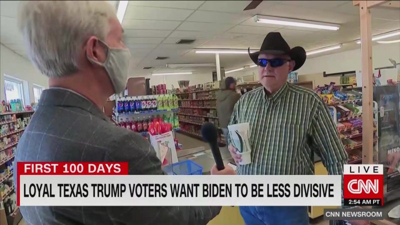 After Biden Pledges Unity in Inauguration Speech, Texas Trump Voters Say He Should Be 'Less Divisive'
