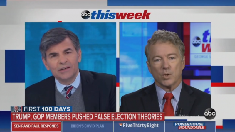 George Stephanopoulos Conducts Lengthy Interview with Rand Paul Even After He Refused to Answer Basic 'Threshold' Question